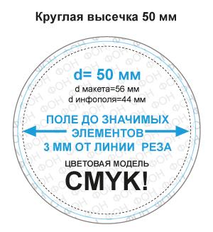 Макет круглого магнита 50 мм